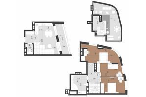 ЖК Парус Преміум: планування 3-кімнатної квартири 125.5 м²