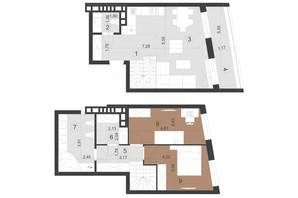 ЖК Парус Преміум: планування 2-кімнатної квартири 81.2 м²