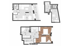ЖК Парус Преміум: планування 2-кімнатної квартири 111.5 м²