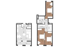 ЖК Парус Преміум: планування 3-кімнатної квартири 105.3 м²