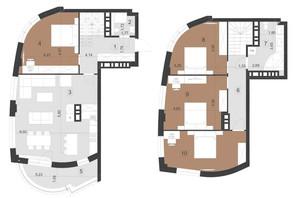 ЖК Парус Преміум: планування 4-кімнатної квартири 137.8 м²