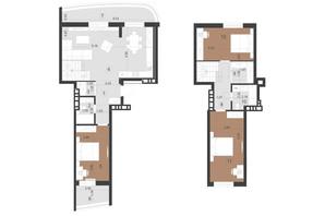 ЖК Парус Преміум: планування 3-кімнатної квартири 117.2 м²