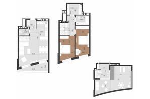 ЖК Парус Преміум: планування 2-кімнатної квартири 116.1 м²