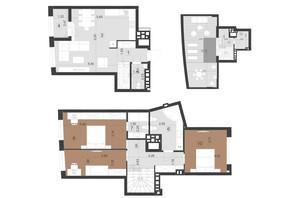 ЖК Парус Преміум: планування 3-кімнатної квартири 138.5 м²