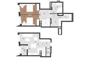 ЖК Парус Преміум: планування 2-кімнатної квартири 89 м²
