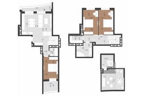 ЖК Парус Преміум: планування 3-кімнатної квартири 132.1 м²