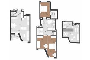 ЖК Парус Преміум: планування 3-кімнатної квартири 120.5 м²