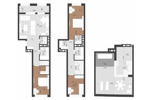 ЖК Парус Преміум: планування 3-кімнатної квартири 127.6 м²