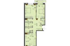 ЖК Перший Французький: планування 2-кімнатної квартири 85.9 м²