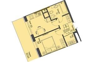 ЖК Перший Французький: планування 1-кімнатної квартири 37 м²