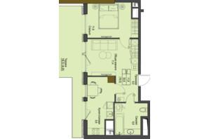 ЖК Перший Французький: планування 2-кімнатної квартири 50.6 м²