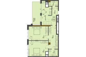 ЖК Перший Французький: планування 2-кімнатної квартири 86.1 м²