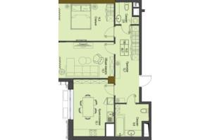 ЖК Перший Французький: планування 2-кімнатної квартири 65.7 м²