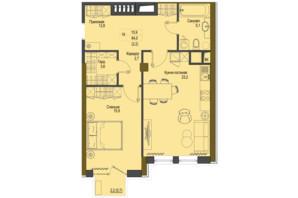 ЖК Перший Французький: планування 1-кімнатної квартири 64 м²