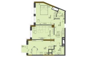ЖК Перший Французький: планування 2-кімнатної квартири 71 м²