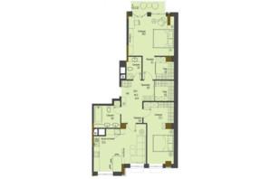 ЖК Перший Французький: планування 2-кімнатної квартири 90.3 м²