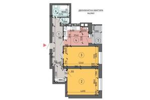 ЖК PetrovSky: планировка 2-комнатной квартиры 66 м²