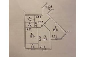 ЖК Plaza Kvartal: планировка 2-комнатной квартиры 73.4 м²