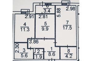ЖК Plaza Kvartal: планировка 2-комнатной квартиры 62.4 м²
