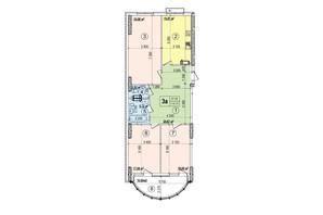 ЖК Podil Plaza & Residence: планування 3-кімнатної квартири 116.75 м²