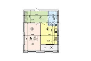 ЖК Podil Plaza & Residence: планування 1-кімнатної квартири 55.7 м²
