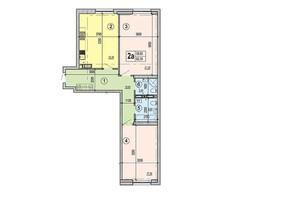 ЖК Podol Plaza & Residence: планировка 2-комнатной квартиры 82.3 м²