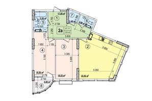 ЖК Podol Plaza & Residence: планировка 2-комнатной квартиры 106.45 м²