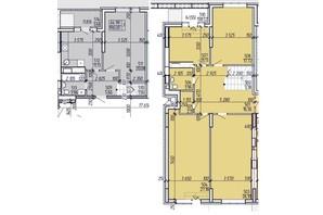 ЖК Покровский: планировка 4-комнатной квартиры 198 м²