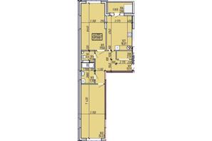 ЖК Покровський: планування 2-кімнатної квартири 87.09 м²