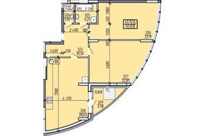 ЖК Покровський: планування 2-кімнатної квартири 92.83 м²
