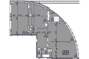 ЖК Покровский: планировка 3-комнатной квартиры 120.25 м²