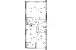ЖК Polaris Home&Plaza: планировка 3-комнатной квартиры 80.55 м²