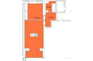 ЖК Прага: планування 1-кімнатної квартири 53.4 м²