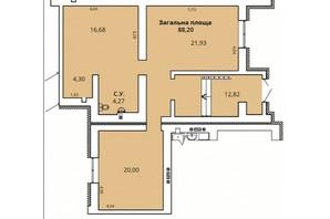 ЖК Прем'єр Хаус 4 черга: планування приміщення 88.2 м²