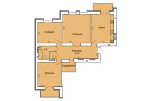 ЖК Прем'єр Хаус 4 черга: планування 3-кімнатної квартири 115.46 м²