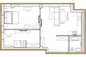 ЖК Premier Park: планировка 2-комнатной квартиры 60.47 м²