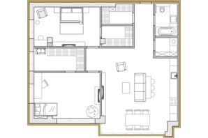 ЖК Premier Park: планировка 3-комнатной квартиры 91.61 м²