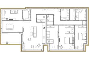 ЖК Premier Park: планировка 4-комнатной квартиры 200.49 м²