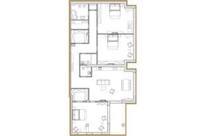 ЖК Premier Park: планировка 4-комнатной квартиры 189.29 м²
