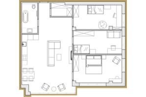 ЖК Premier Park: планировка 3-комнатной квартиры 92.64 м²