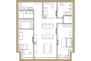 ЖК Premier Park: планування 3-кімнатної квартири 99.53 м²