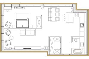 ЖК Premier Park: планування 2-кімнатної квартири 67.86 м²