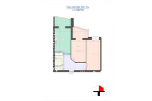 ЖК Премиум Парк: планировка 2-комнатной квартиры 79.14 м²