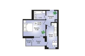 ЖК Prestige Hall (Престиж Холл): планування 1-кімнатної квартири 50 м²