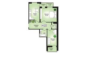 ЖК Prestige Hall (Престиж Холл): планування 2-кімнатної квартири 68.9 м²