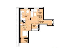 ЖК Prestige Hall (Престиж Холл): планування 2-кімнатної квартири 68 м²