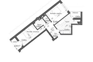 ЖК Престижний 2: планування 2-кімнатної квартири 68.5 м²