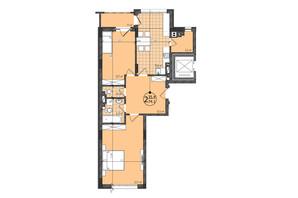 ЖК Престижний: планування 2-кімнатної квартири 75 м²