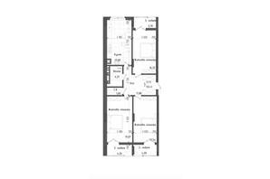 ЖК Престижний: планування 3-кімнатної квартири 100.48 м²