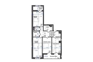 ЖК Престижний: планування 3-кімнатної квартири 101.28 м²